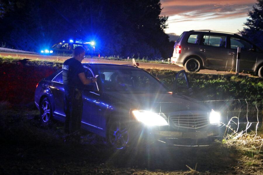 Verfolgungsjagd mit Autodieb endet auf A 4 bei Meerane