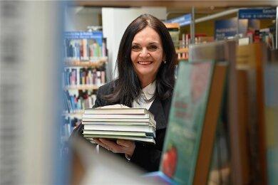 Sie hinterlässt Spuren: Am Freitag beendet Elke Beer ihre langjährige Tätigkeit für die Chemnitzer Stadtbibliothek.