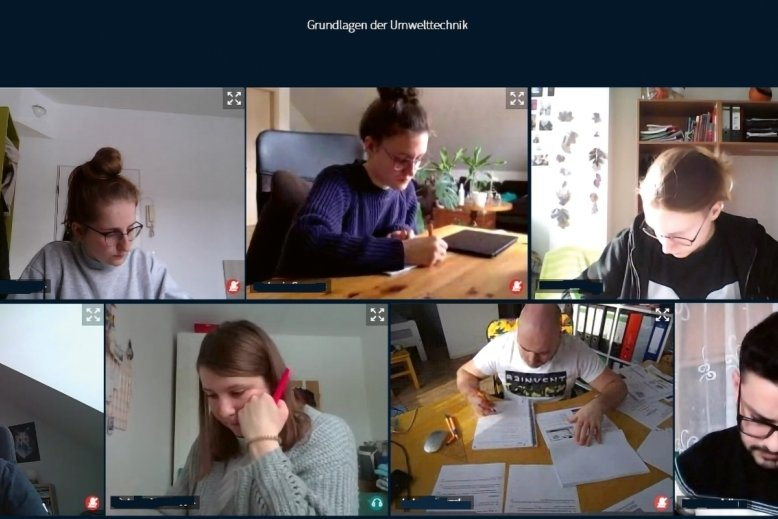 Inzwischen ein gewohntes Bild: Seit Monaten lernen Studenten fast ausschließlich auf digitalen Plattformen. Der Screenshot wurde im Prüfungsportal OPAL der TU Bergakademie Freiberg aufgenommen.