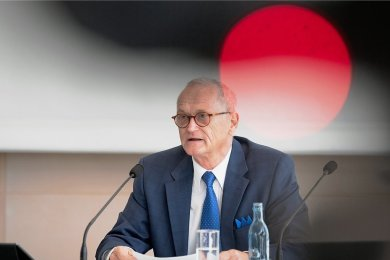 Am 14. September ist Schluss: Sachsens Landesrechnungshofpräsident Karl-Heinz Binus am Donnerstag bei der Vorstellung des Jahresberichts 2021.