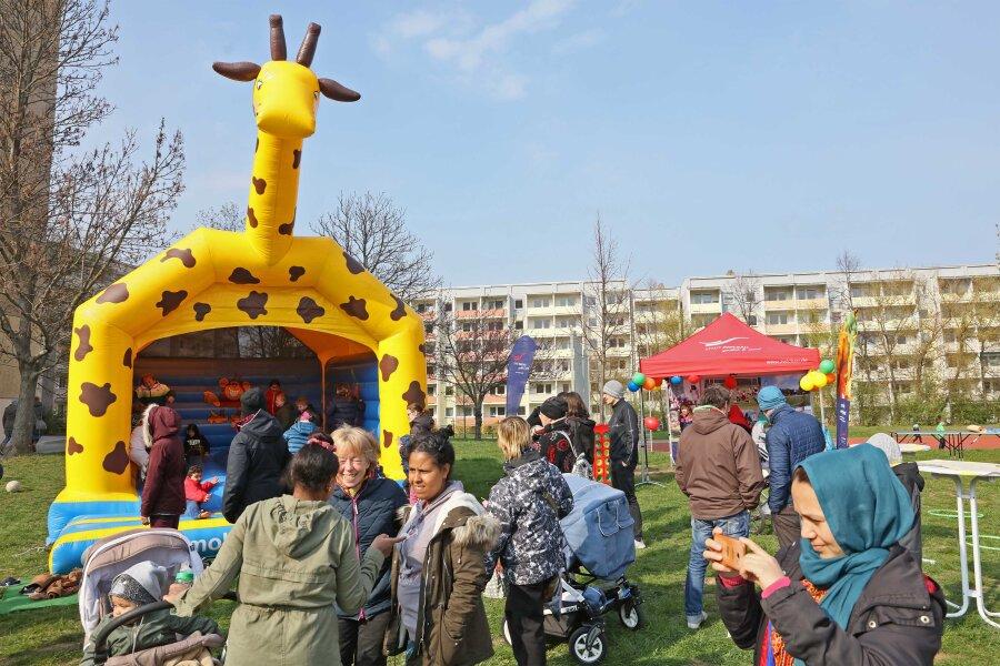 Der Kinderfestklassiker Hüpfburg war natürlich auch mit dabei.