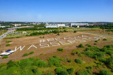 Chemnitz ist bereit: Auf diesem Gelände an der Fraunhofer Straße in Chemnitz soll das nationale Wasserstoffzentrum entstehen.