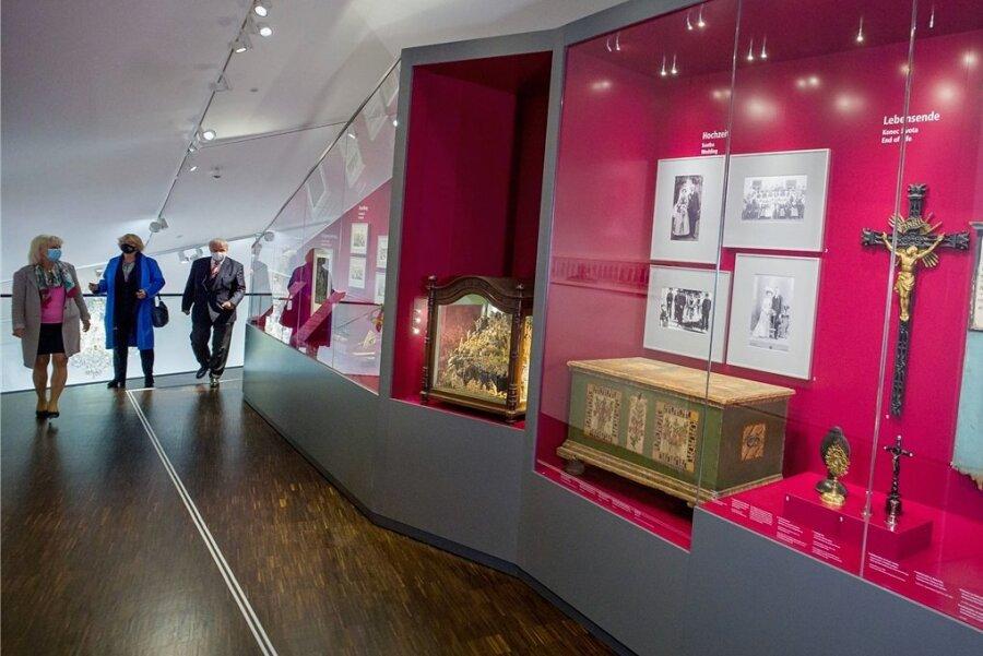 Ein Blick ins neue Sudetendeutsche Museum in München. In Tschechien ringt die Minderheit um Erhalt von Sprache und Kultur.