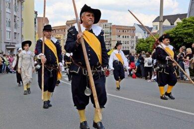Bis zu 100 Veranstaltungen organisiert Frank Stahn durchschnittlich im Jahr. Vor sechs Jahren war er beispielsweise an der Organisation der 600-Jahr-Feier von Crimmitschau (Foto) beteiligt.