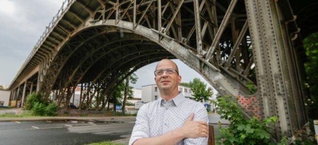 """Johannes Rödel ist Werkstoffwissenschaftler und Vorsitzender des Viadukt-Vereins: """"Die Brücke ist eine stadtbildprägende Kostbarkeit."""""""
