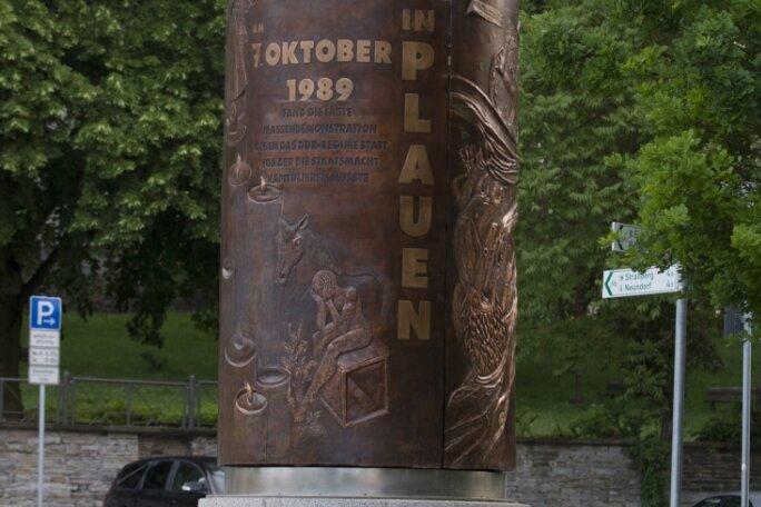 19 Uhr findet am Montag am Wendedenkmal in Plauen eine Kundgebung für Demokratie und Freiheit statt.