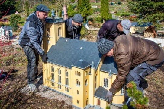 Oederan: Miniaturpark Klein-Erzgebirge öffnet wieder