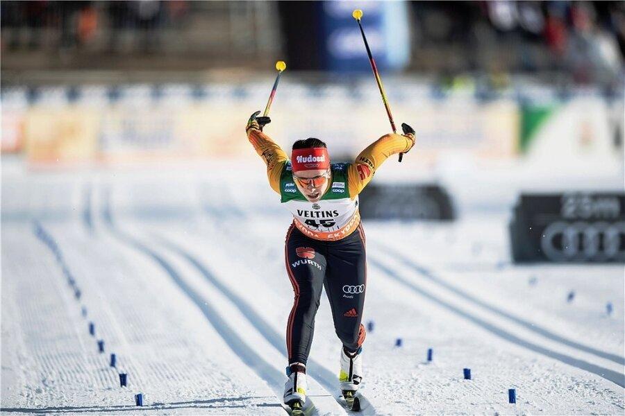Katharina Hennig, hier beim Weltcup im Vorwinter in Lahti, liebt die klassische Technik.