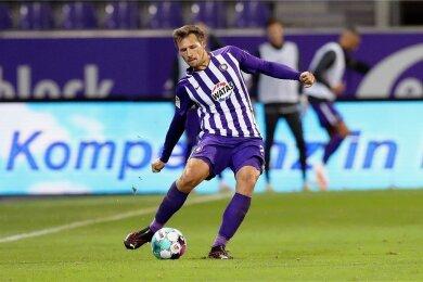 42 Pflichtspiele hat Sören Gonther seit Sommer 2019 für Aue bestritten, dabei auch zwei Tore erzlelt.