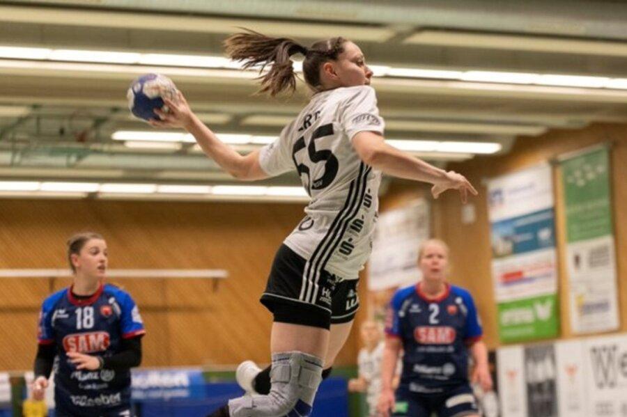 Mit jeweils sieben Treffern waren Rebeka Ertl (im Bild) und Simona Stojkovska am Samstag die erfolgreichsten Werferinnen des BSV Sachsen Zwickau gegen die SG H2Ku Herrenberg.