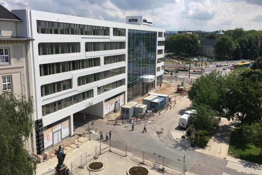 Baustelle am Chemnitzer Johannisplatz aufgehoben - Johannisstraße wieder befahrbar