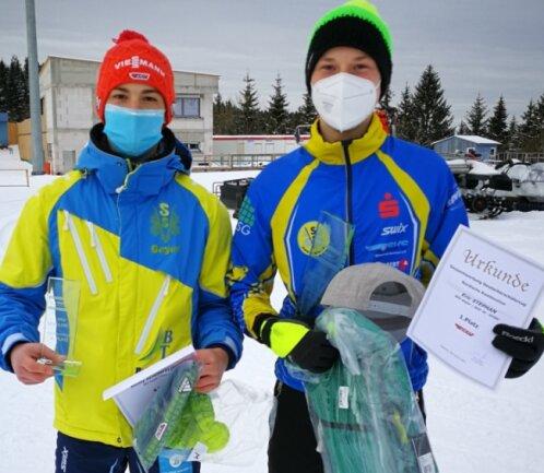 Erik Stephan und Kenny Schönfelder- erfolgreiche Zimmergemeinschaft des SSV Geyer im Sportinternat der Eliteschule Oberwiesenthal.