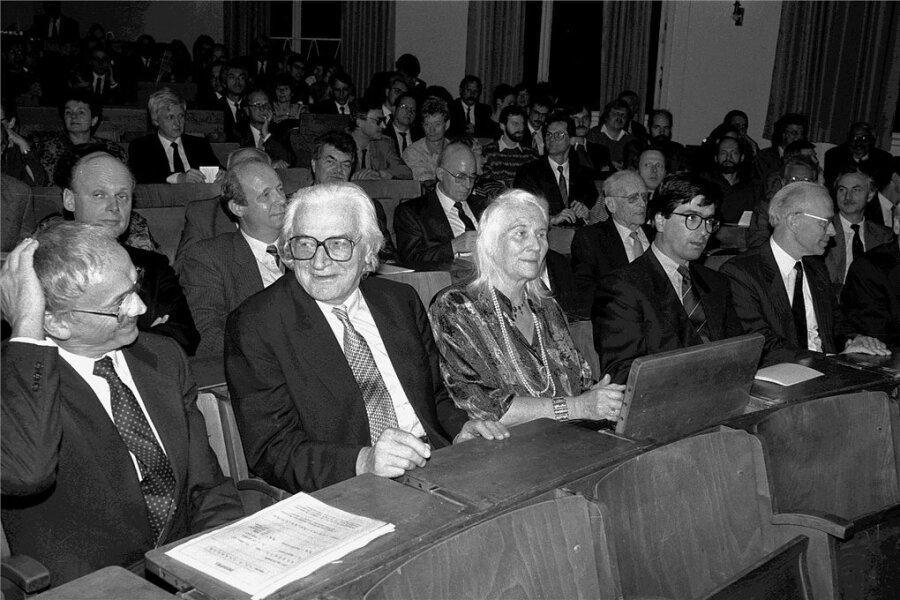 Konrad Zuse (2. von links) zur Feier seines 80. Geburtstages.