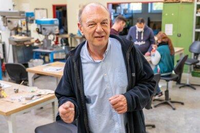 Andreas Müller (54) leitet die Göltzschtalwerkstätten der Diakonie seit 2008.