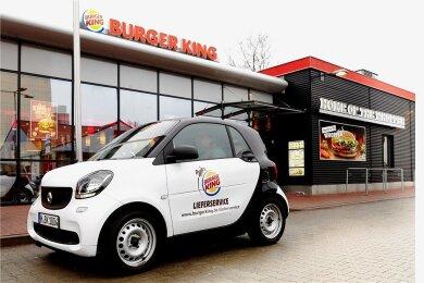 Ein Lieferfahrzeug von Burger King. Foto: Jules Esick/Burger King/dpa