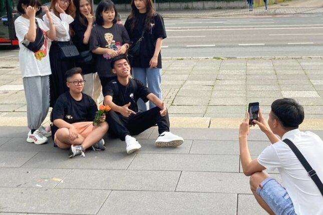 Jugendliche Vietnamesen entdeckten ihren künftigen Lebensort Chemnitz.