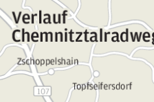 Teilstück des Chemnitztalradweges fertig