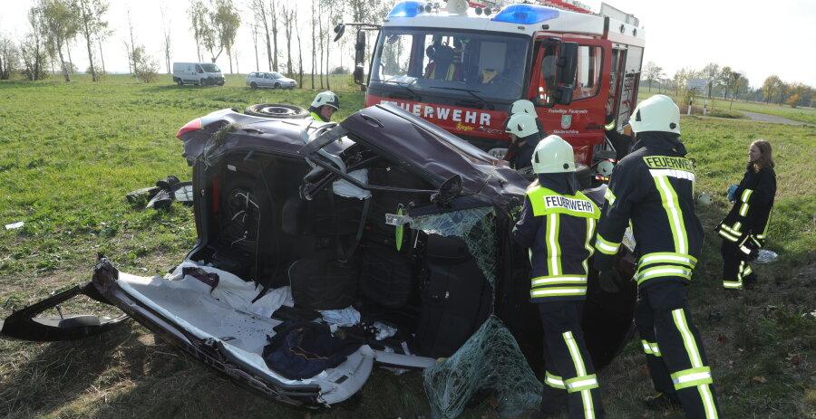 Niederschöna: B173 nach Unfall gesperrt