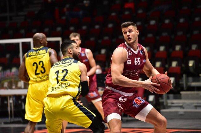 Filip Stanic, hier im Spiel gegen Oldenburg, kam in dieser Saison verletzungsbedingt auf nur 13 Einsätze für die Niners Chemnitz.