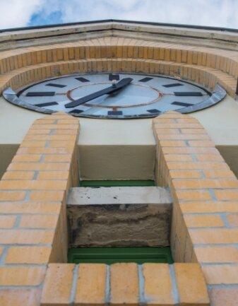 In dem Uhrenturm des Hauptgebäude befanden sich die Glocken.