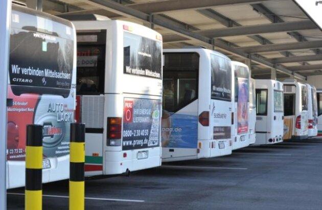 """Ab 1. September fährt die Fernbuslinie """"Mittelsaxe"""" nicht mehr zwischen Freiberg und Leipzig."""
