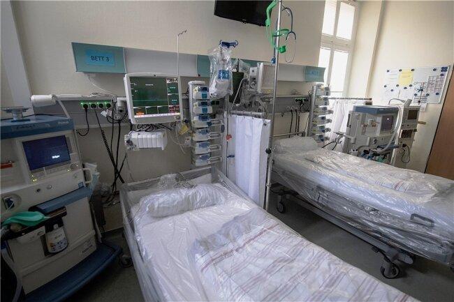 Auch leere Betten kosten Geld: Blick in eine Intensivstation.