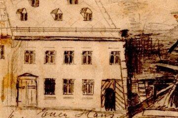 In dem Haus der Günthers (heute August-Bebel-Straße 4) geschah der Mord.