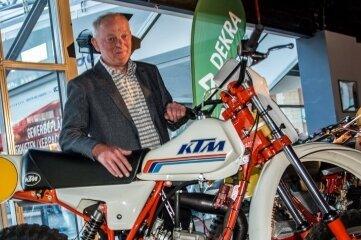 Kommt nach Zschopau: KTM-Prototyp, den Bernhard Brinkmann in der EM 1981 fuhr.