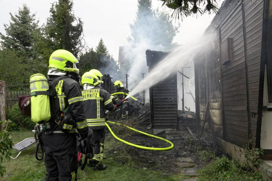 Kompost in Flammen - 14.000 Euro Schaden
