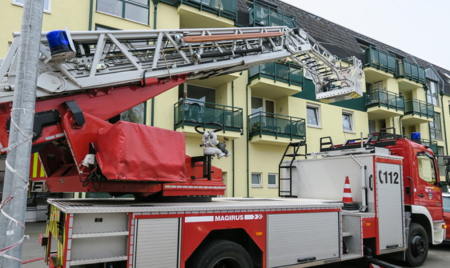 Aue: Küchenbrand in Mehrfamilienhaus