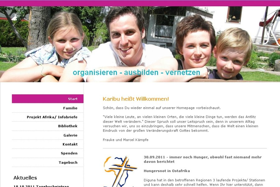 Die Familie Kämpfe informiert auf ihrer Internetseite über ihr Projekt - unter www.wirkaempfes.de.