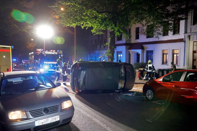 Schwerer Unfall am Samstagabend auf der Geibelstraße.