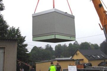 Anlieferung Verteilerstation schnelles Internet Geringswalde.