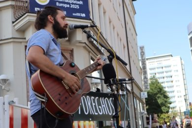 Straßenkunst für den CD-Player: Foreghost will auch seine Heimatstadt mit ins neue Album einbinden.