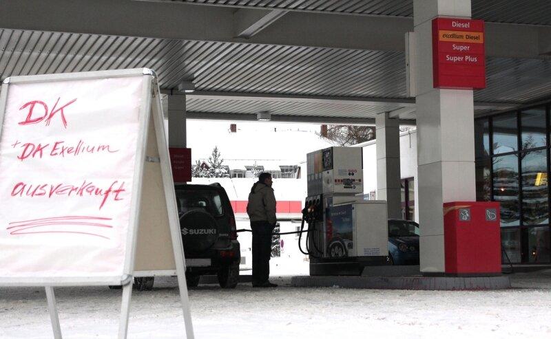 """<p class=""""artikelinhalt"""">Dieselkraftstoff war am Dienstag ausverkauft an der Total-Tankstelle in Olbernhau.</p>"""
