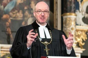 Landesbischof Tobias Bilz brachte sich in den Festgottesdienst insbesondere mit seiner Predigt ein.