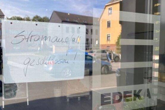 Der Edeka-Markt in Brand-Erbisdorf war am Donnerstagnachmittag geschlossen.