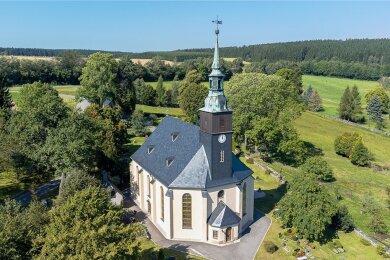 Die Kirche Rothenkirchen, deren Neubau vor 225 Jahren fertiggestellt wurde, ist im zurückliegenden Jahr saniert worden.