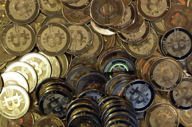 Bitcoin-Münzen.