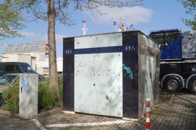 Die Toilettenanlage am Platz der Völkerfreundschaft