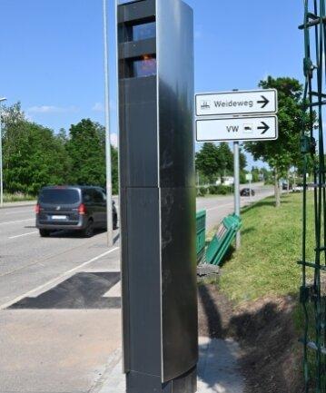 """Der neue Blitzer soll laut Rathaus """"zeitnah"""" in Betrieb gehen."""