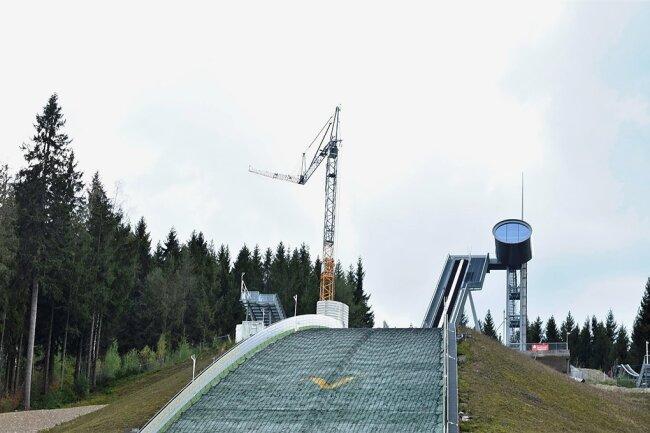 Die Vogtland-Arena in Klingenthal.