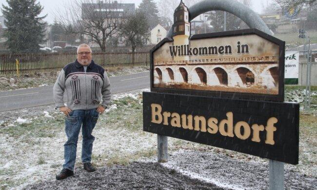 Seit 2014 kümmert sich Holger Maywirth als Ortsvorsteher um die Geschicke von Braunsdorf.