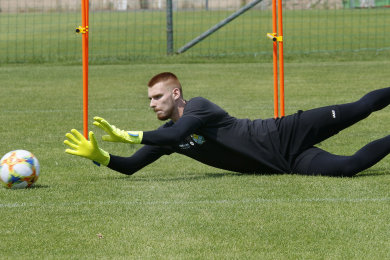 Sönke Günther beim Training am Montag.