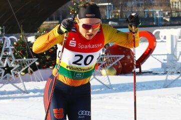 Nah an der WM-Norm: Anne Winkler sprintete beim Weltcup in Dresden auf Rang 16.