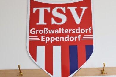 Auch die Sozialräume des Sportplatzes Eppendorf wurden saniert und das Vereinslogo angebracht.