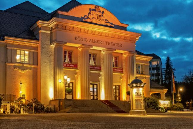 Das König Albert Theater Bad Elster zur Blauen Stunde.