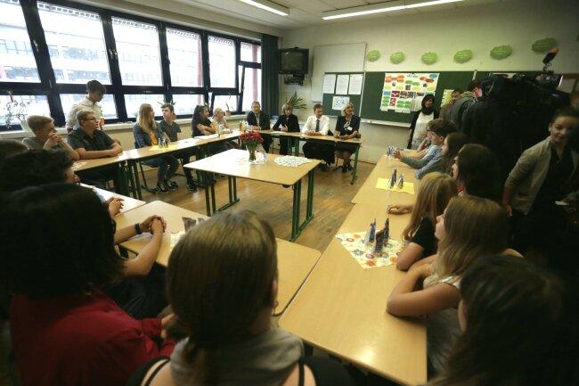 Die Schule wurde kürzlich mit einem Demokratiepreis ausgezeichnet.