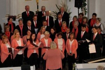 Die Montagssänger, der Paul-Fleming-Chor und der Chor MelodieLibochovice traten zusammen auf.