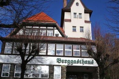 Das Berggasthaus. Aufnahme aus dem Jahre 2014.